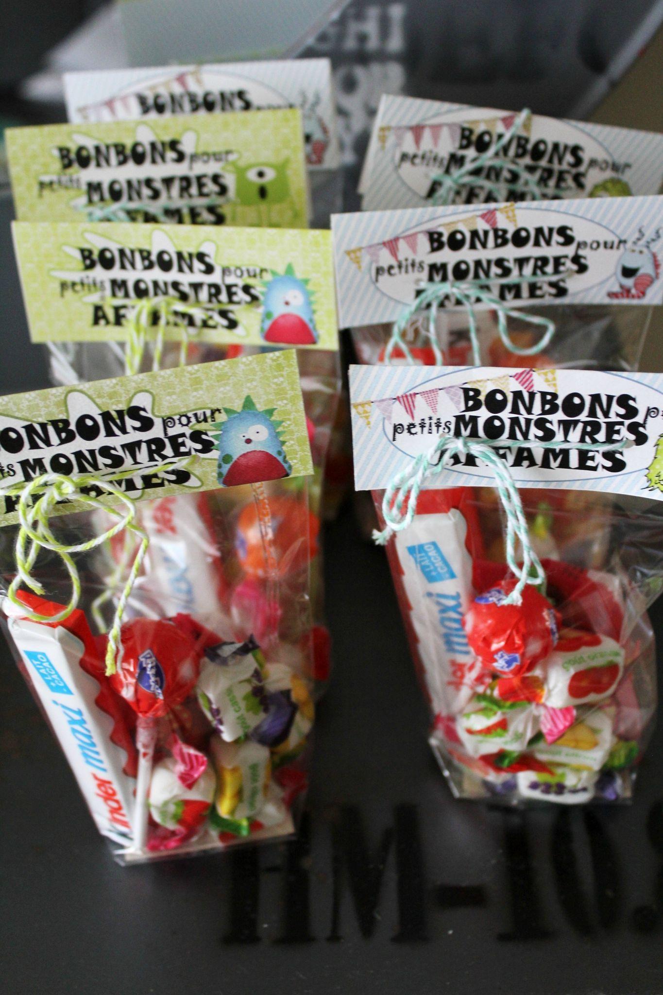 Sacs de bonbons pour monstres affam s monster party - Sac bonbon anniversaire a fabriquer ...