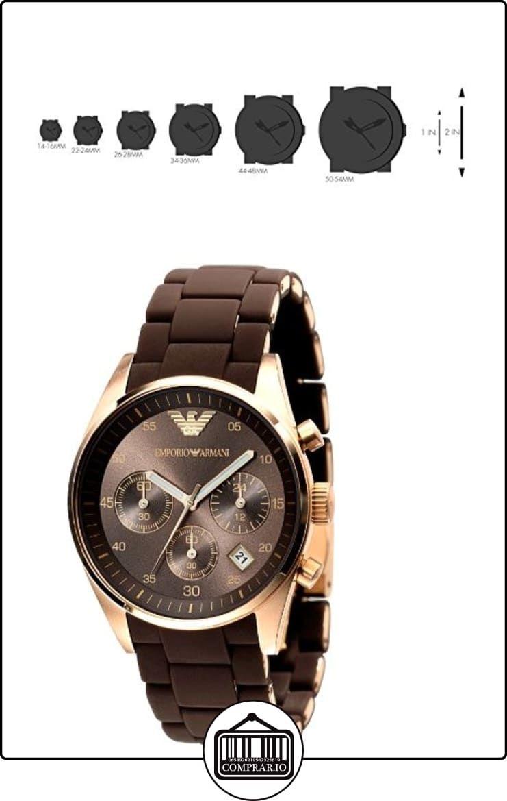 c09fa5b66fd9 Emporio Armani Sportivo AR5891 - Reloj cronógrafo de cuarzo para mujer