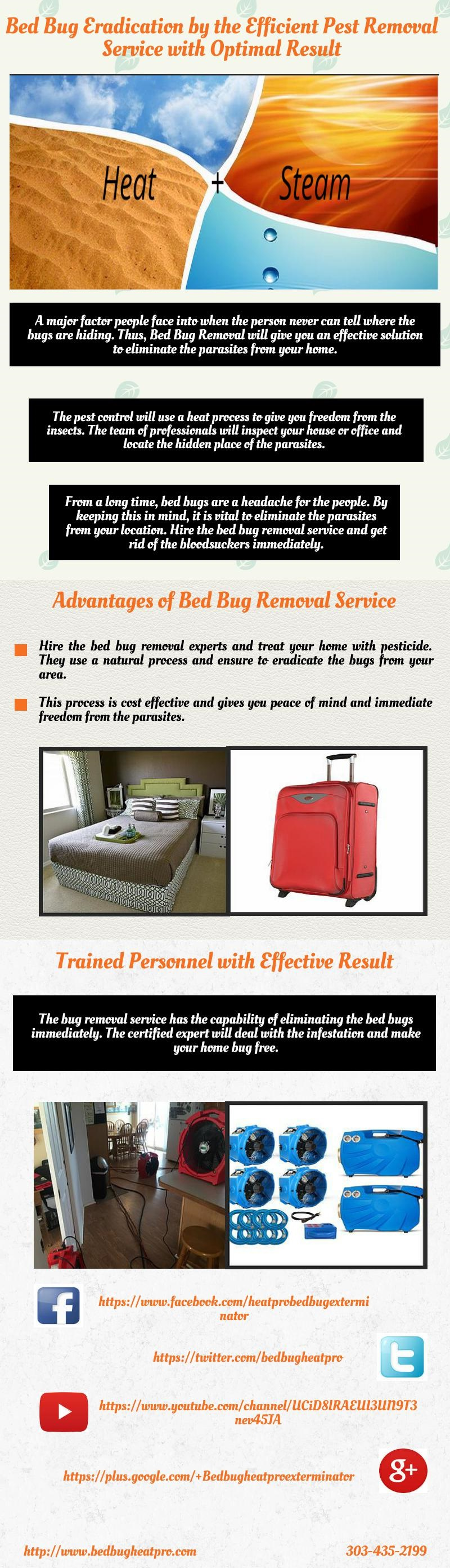 The pest control will use a heat process to give you