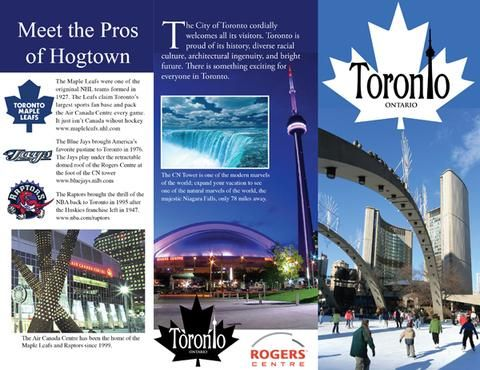 toronto-front-back-flap Education Travel brochure, Israel travel