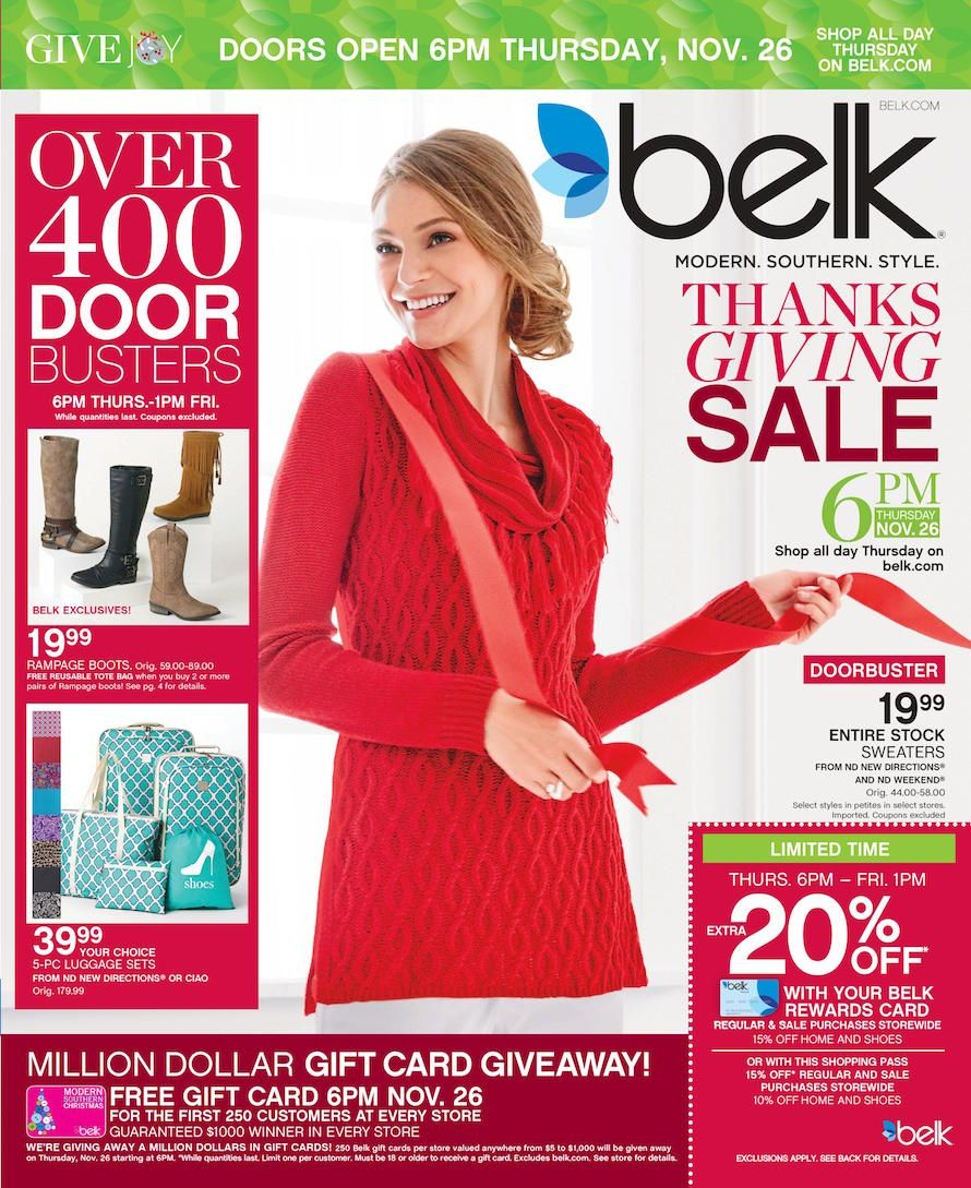 Belk Black Friday 2015 Ad, Sales & Deals