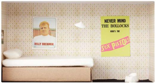 Damien Hirst artist shoebox bedroom