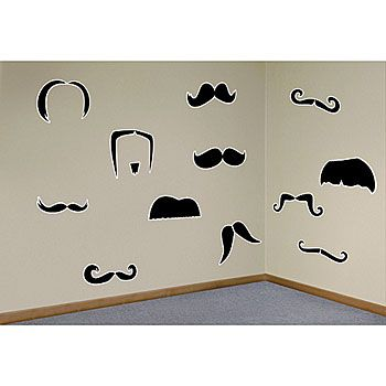 Our Mustache Wall Decals feature various shapes and styles of mustaches that adhere to your walls  sc 1 st  Pinterest & Our Mustache Wall Decals feature various shapes and styles of ...