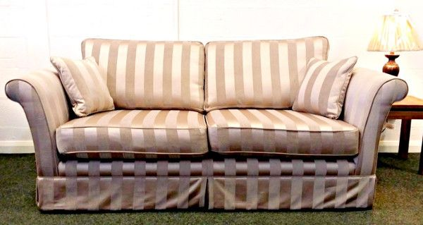 Ex Display Sofa Warehouse >> Ex Display Cannes 3 Seater Sofa In Luxurious Mink Regency Striped