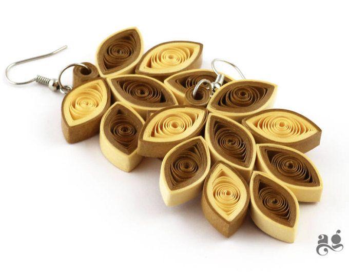Paper earrings statement earring leaf earrings st anniversary