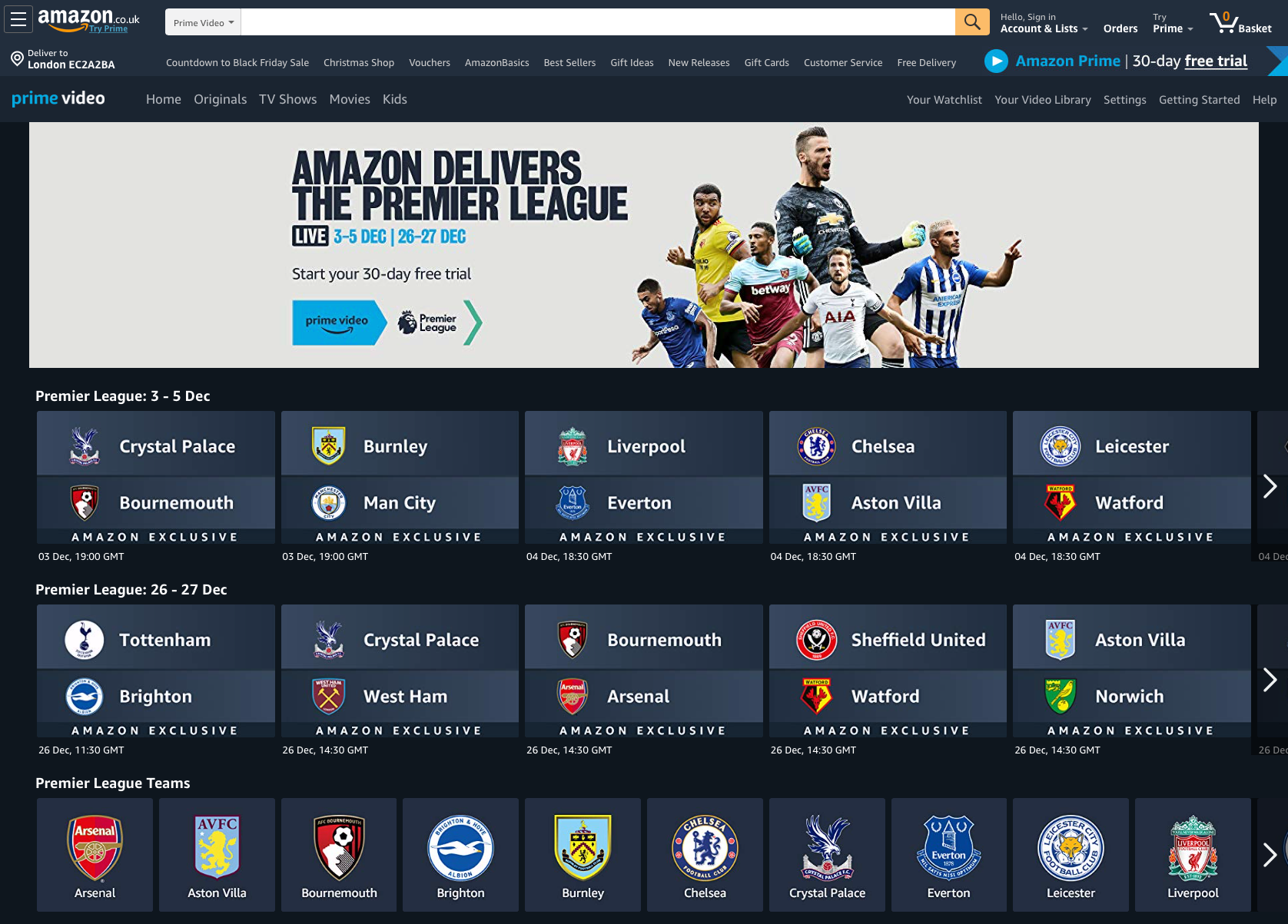 Amazon Prime Football Free Watch Premier League Tonight On Live