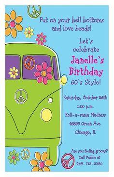 invites  60s party  60th birthday party invitations