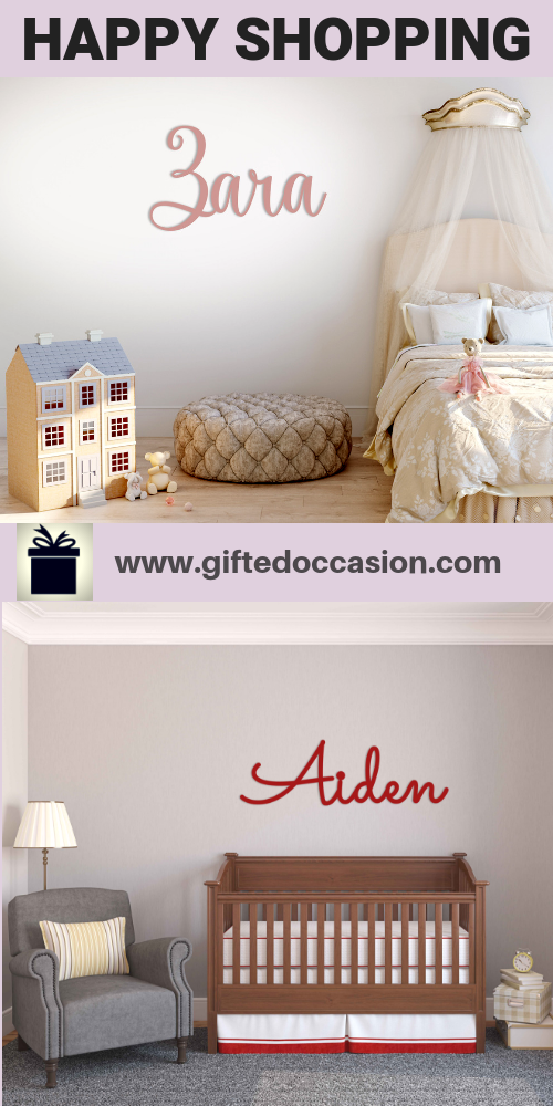 Personalized Name Sign, Aiden Sac Design | Cut Out Name Signs