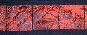 ,, azulejos de la pared posterior de cerámica hechos a mano tallada-esgrafiado