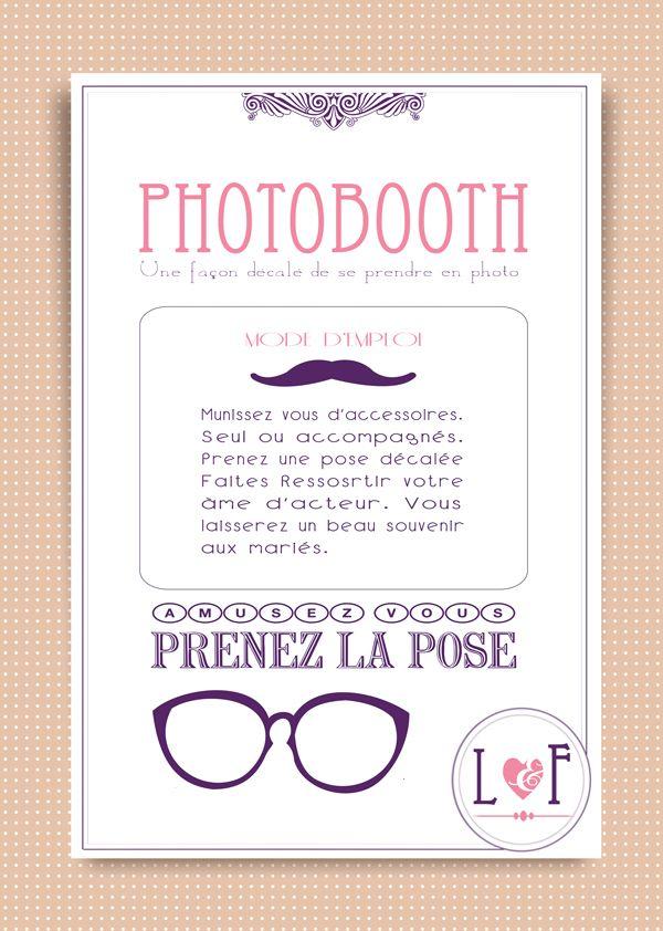 claudia petit panneau pour expliquer le principe du photobooth tres chicks pinterest. Black Bedroom Furniture Sets. Home Design Ideas