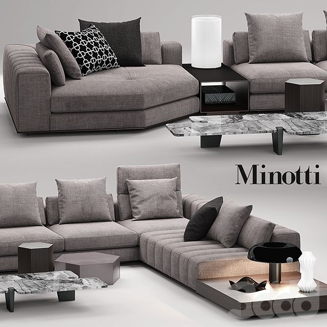 3d модели: Диваны   Minotti Freeman Seating System