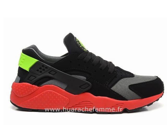 wholesale dealer 78204 132e2 Nike Air Huarache Homme Gris Rouge Huarache Homme Noir