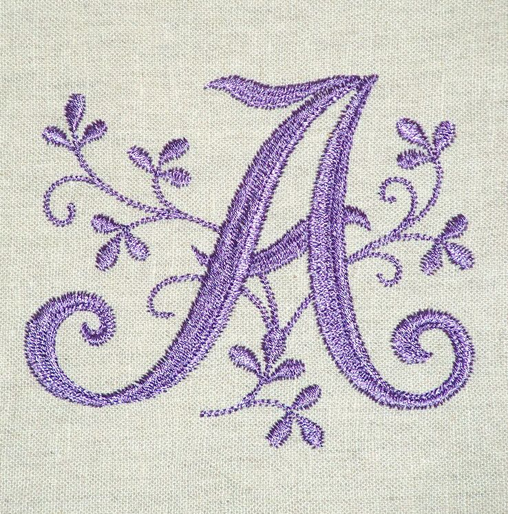 Reminds Me Of The Early Hand Embroidery Initials On Linens Love