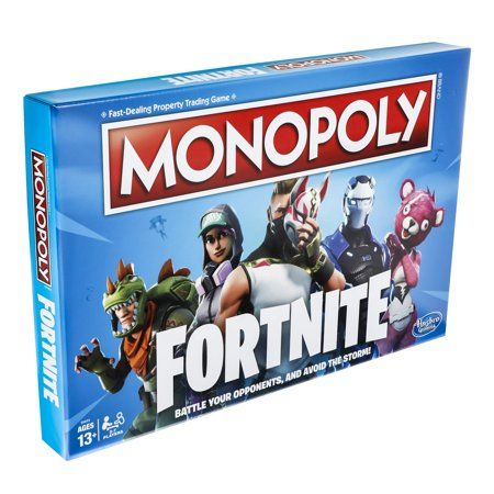 Monopoly Fortnite Edition Board Game For Ages 13 And Up Walmart Com In 2020 Fortnite Board Games Family Board Games