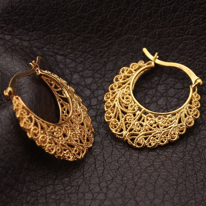 Vintage Earrings Women Gift Fashion Jewelry Free Shipping 18K Real ...