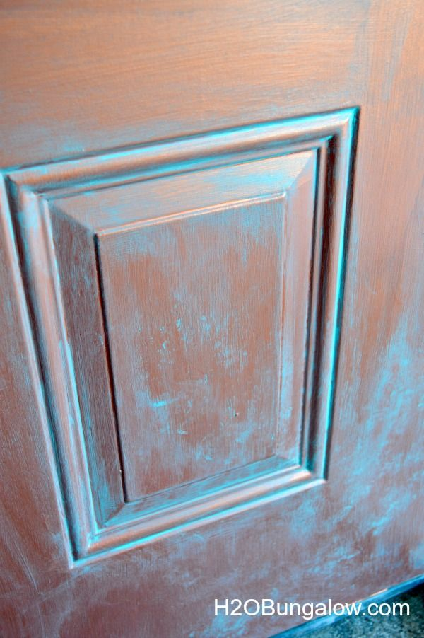 How To Faux Paint A Copper Door Faux Painting Copper Patina Diy Painted Front Doors