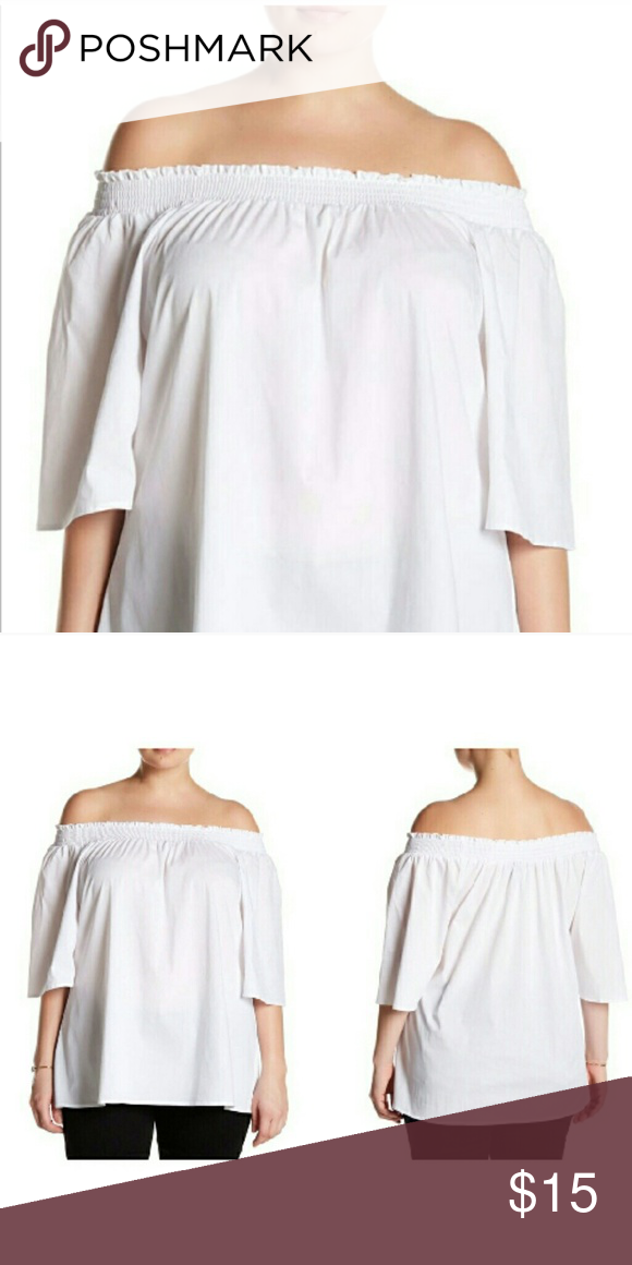 1365a9a24c5 NWT Plus Size Smocked Off Shoulder Blouse 3X NWT white off shoulder plus  size blouse. Soft fabric