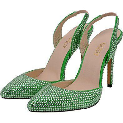 bbbd8ca94371d Amazon.com | SHOELIN High Heels Sandals, Sparkly Rhinestone Pointy ...
