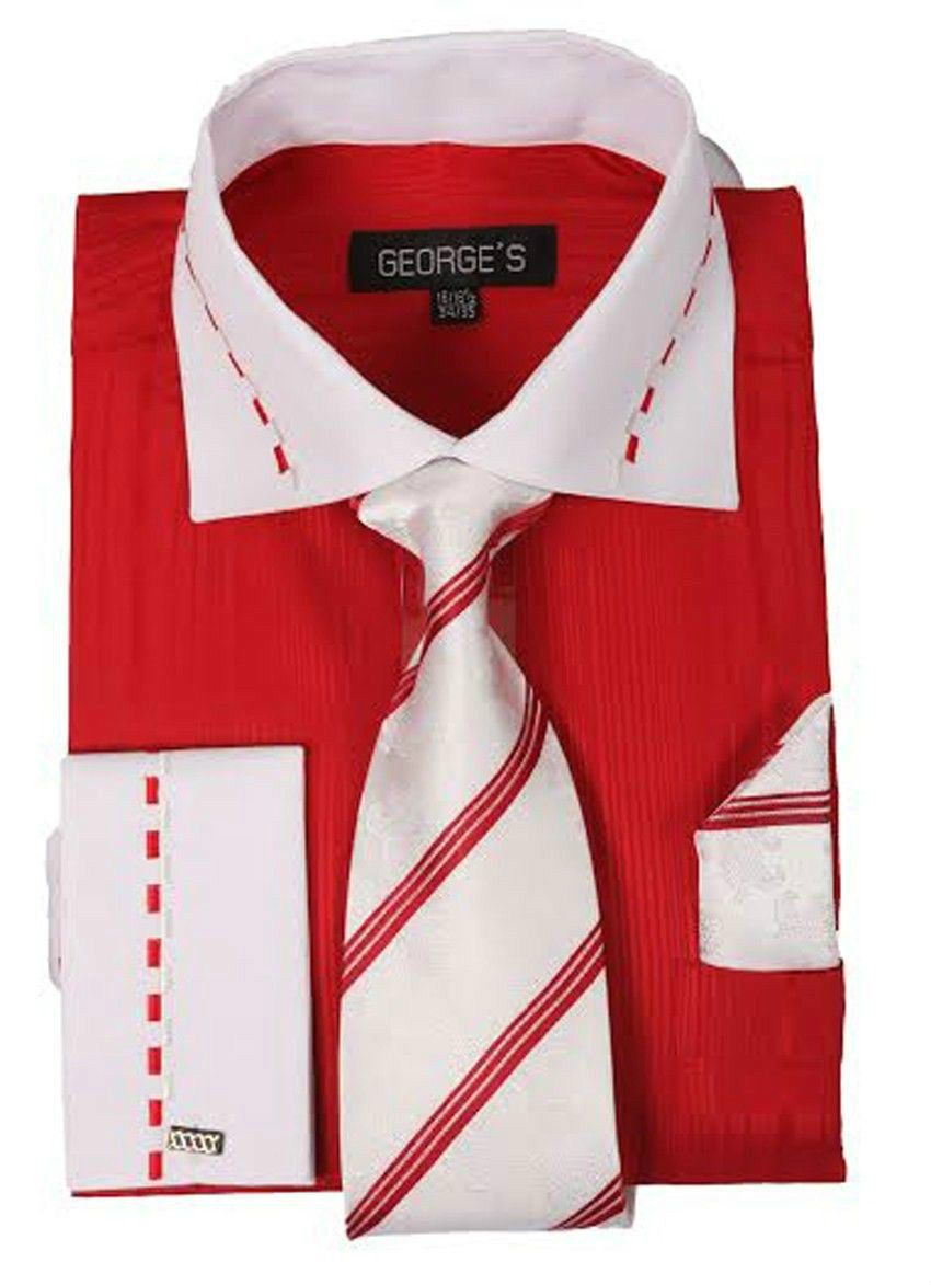 Crimson White Gown Shirt