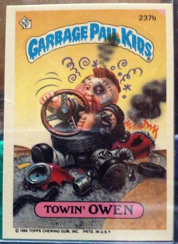 1986 Topps Garbage Pail Kids Trading Card 237b Etsy Garbage Pail Kids Garbage Pail Kids Cards Garbage