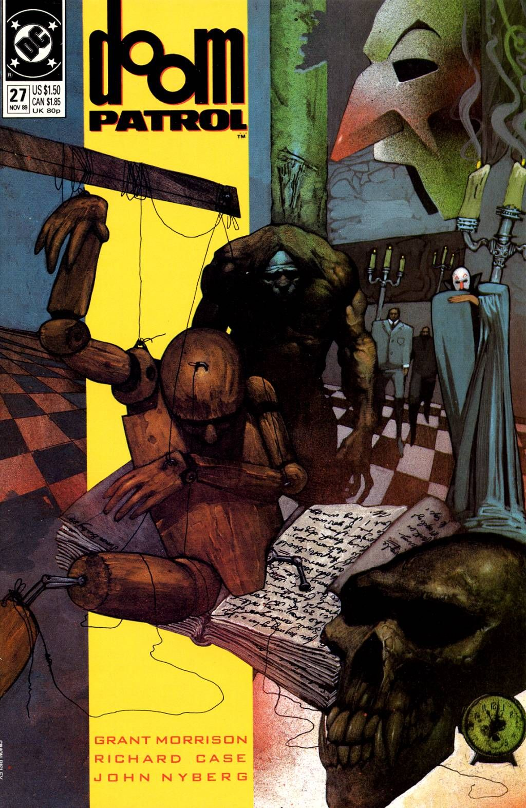The cover to Doom Patrol #27 (1989), art by Simon Bisley