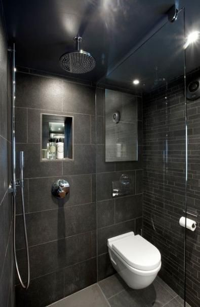 Bathroom shower dark wet rooms 19+ Ideas #wetrooms