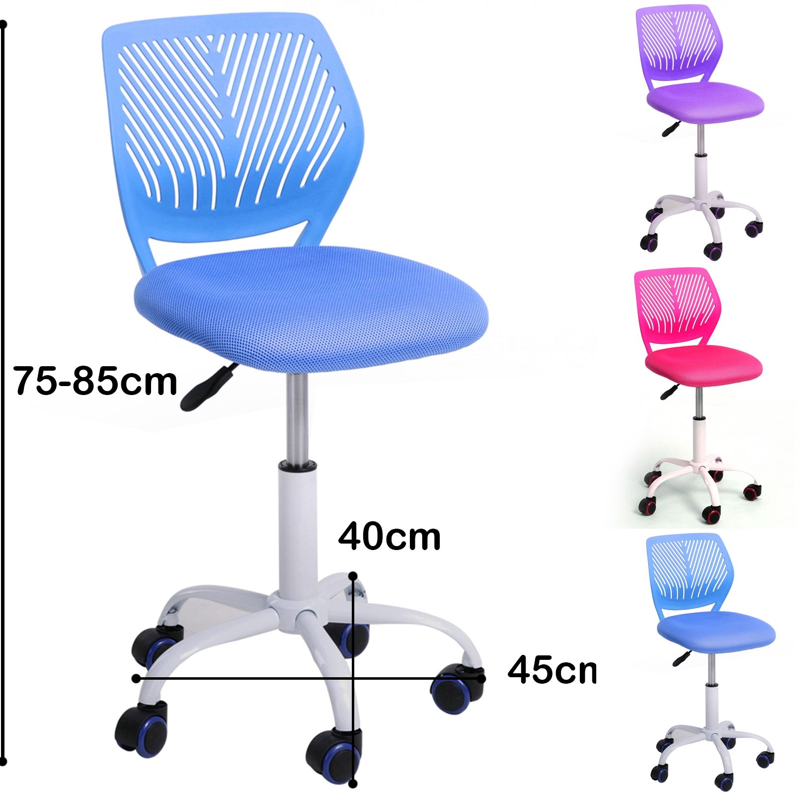 minimalist office chair. CARNATION Blue Minimalist Office Chair G