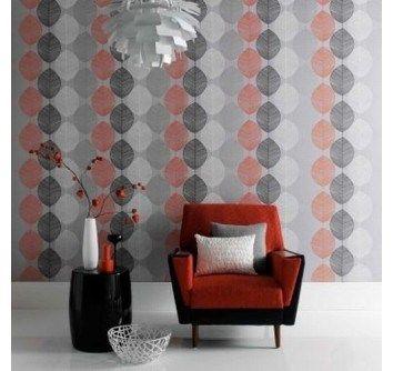 Inspirations For A Retro Living Room Wall Coverings Retro Living Rooms Grey Wallpaper Living Room Retro Living Room Decor
