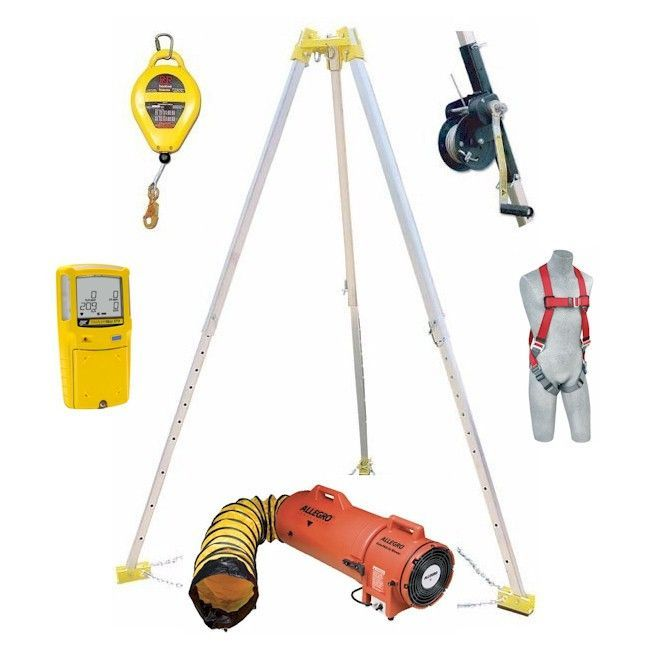 Confined Space Kit Frenchcreek Tripod Rescue System Bw Max
