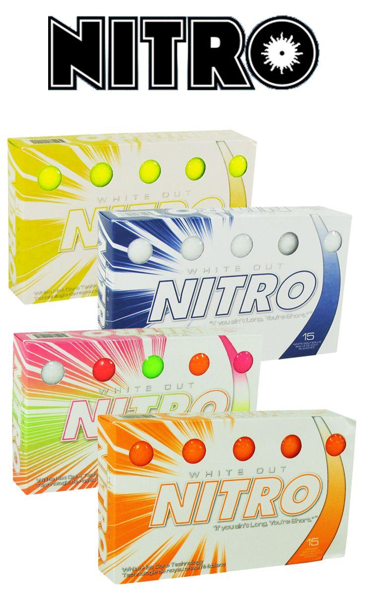 Nitro White Out Colored Golf Balls #golf #golfballs #Nitro #NitroGolf   Rock Bottom Golf #rockbottomgolf