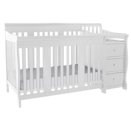 Stork Craft® \'Portofino\' 4-In-1 Crib And Change Table Combo in White ...