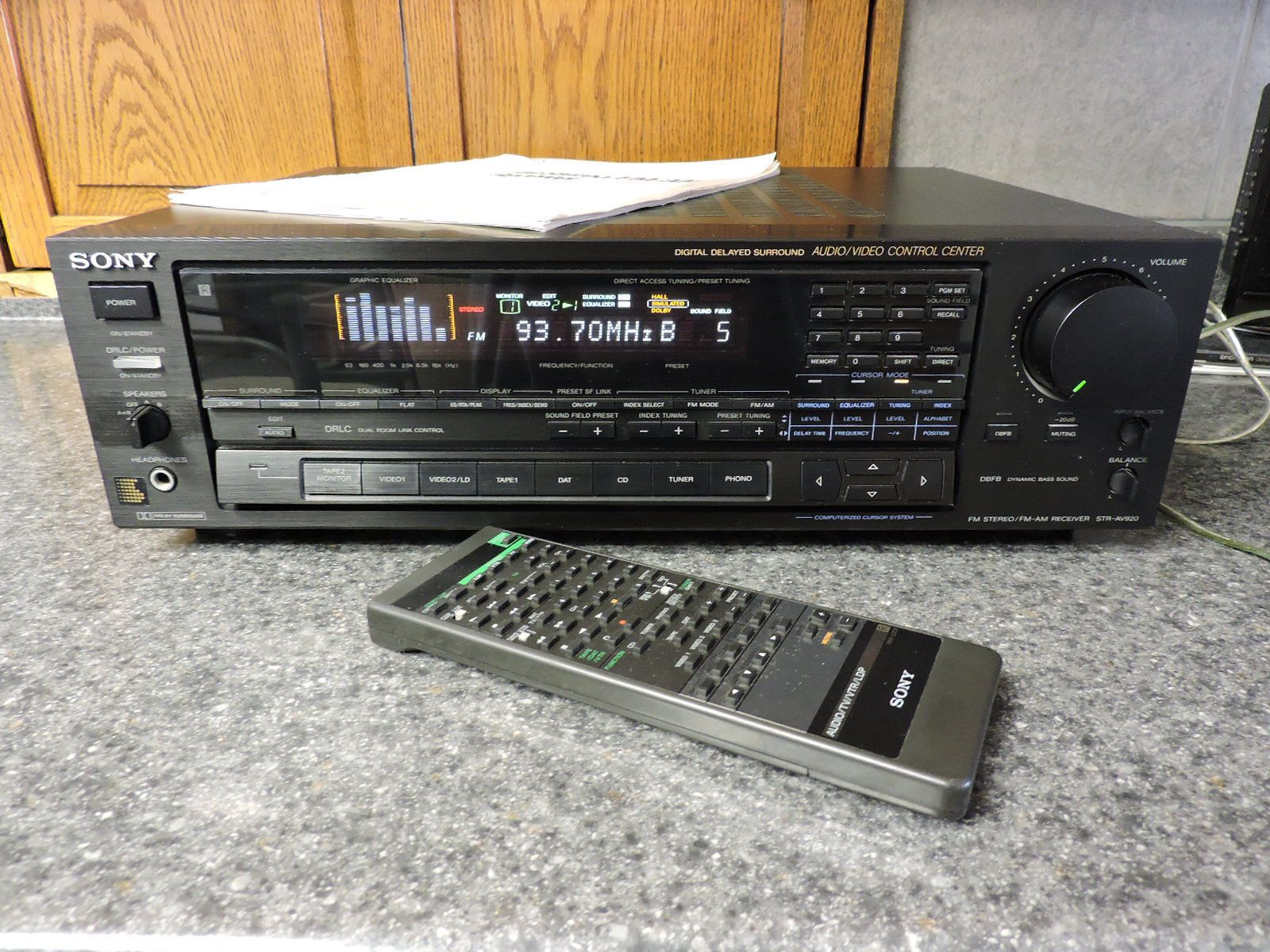 sony str av920 fm stereo fm am receiver w remote manual works rh pinterest com Sony Car Stereo sony str de197 stereo receiver manual