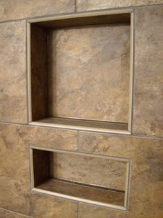 Wonderful Big Tiles Shower Niche. If Ryan Builds Another Shower Weu0027ll Do This Next