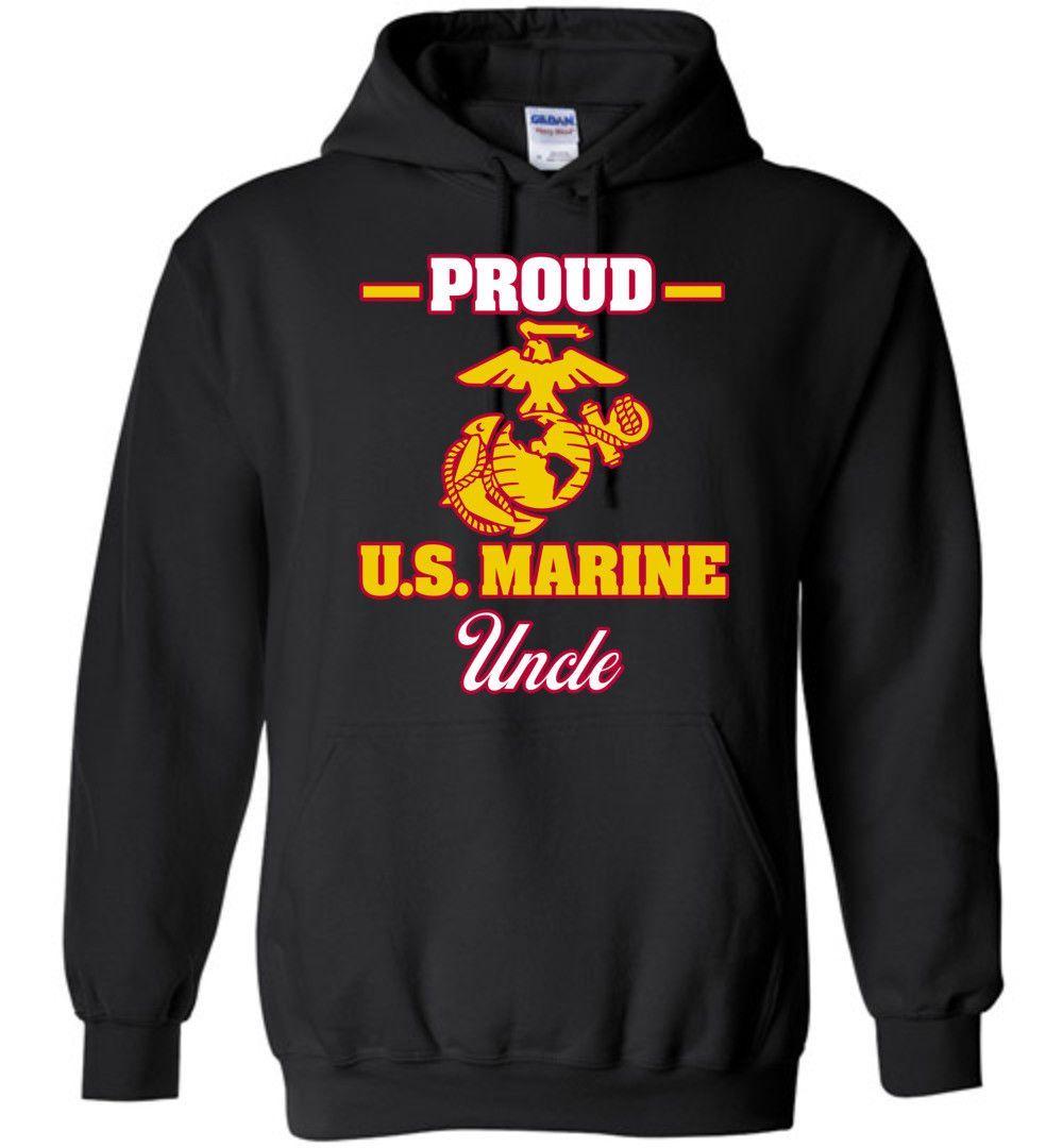 Proud U.S. Marine Uncle Gildan Heavy Blend Hoodie