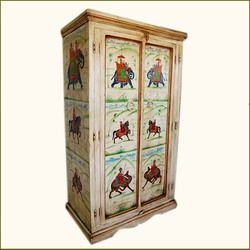 Wood Storage Heritage Hand Painted Armoire Furniture