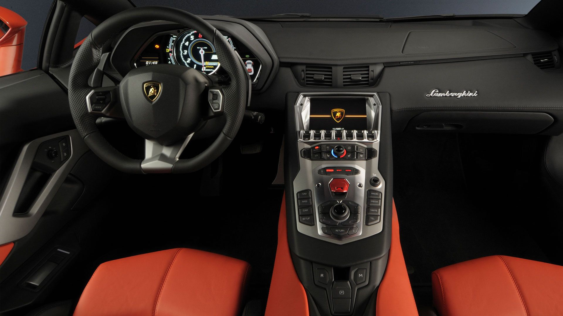 Lamborghini Aventador Lp 700 4 Dashboard Interior Wallpaper
