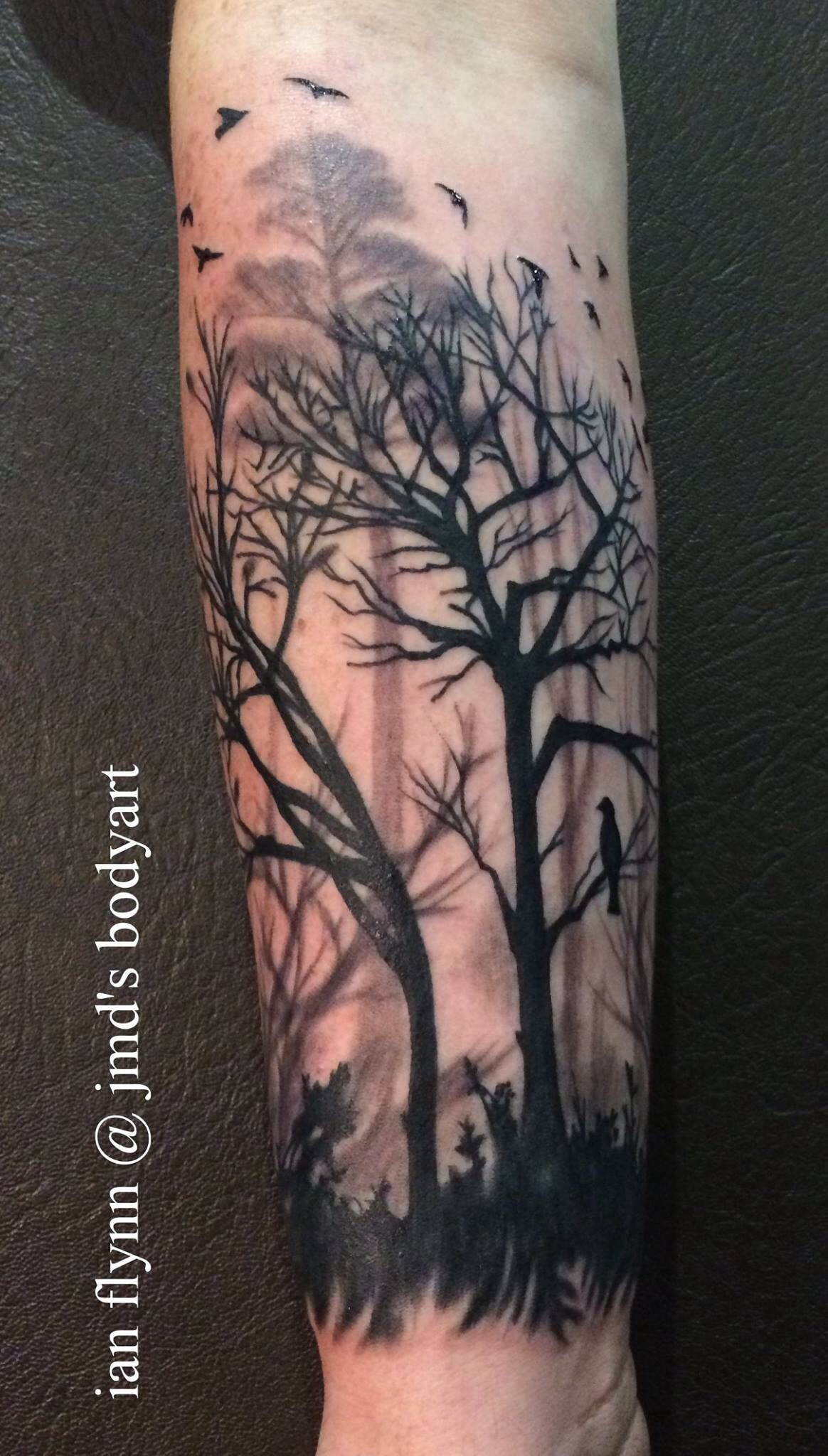 Tree silhouette tattoo by ian flynn