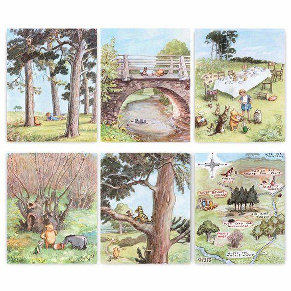 Whose Nursery Is That: Classic Winnie The Pooh Nursery Prints 8x10 (Girls Decor