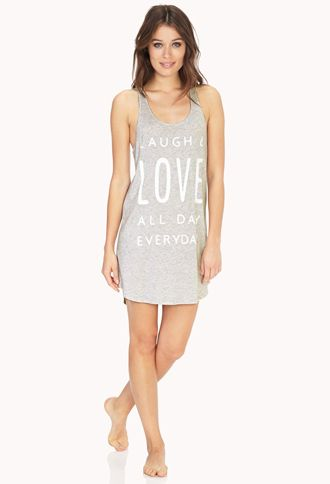 d657bf420a8 Live, Laugh, Love Sleep Tank | FOREVER21 - 2000066344 $11 ...