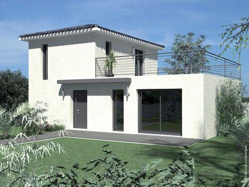 Villa écoconstructive Villas - plan maison avec cotation
