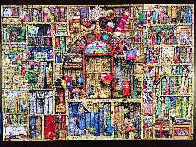Beautiful colorful bookshelf puzzle by ravensburger