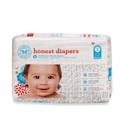 Honest Size Three 34-Pack Diapers with Skull Pattern - buybuyBaby.com