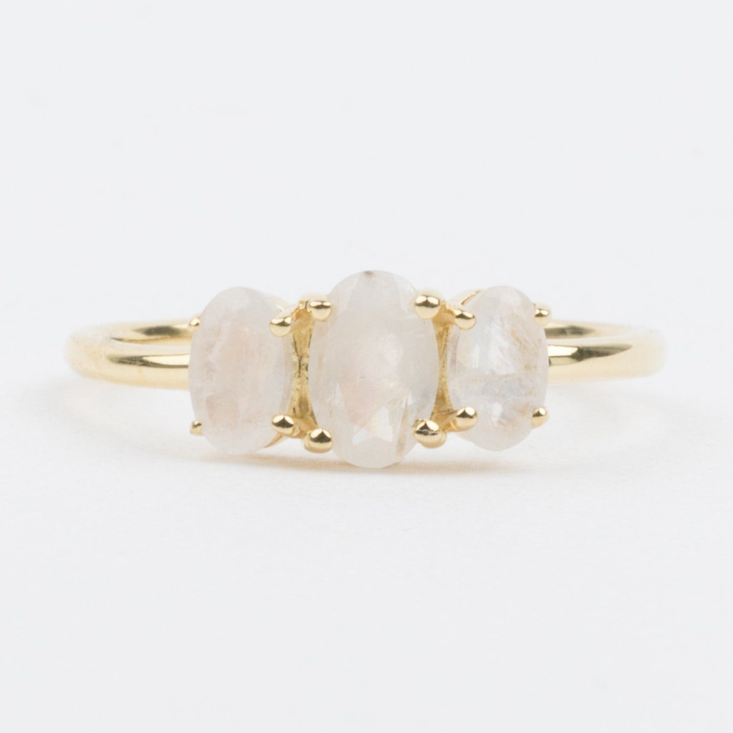DV Jewels Dainty Stacking Moonstone Ring