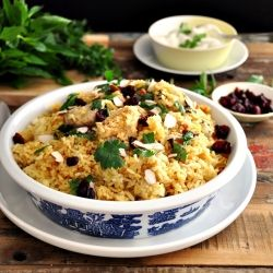 Chicken biryani using a rice cooker a popular indian sub chicken biryani using a rice cooker a popular indian sub continental dish that fits for forumfinder Choice Image