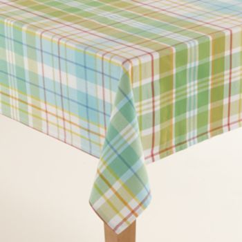 Sonoma Goods For Life Plaid Tablecloth 70 Round Plaid
