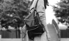 Image result for faux leather back pack