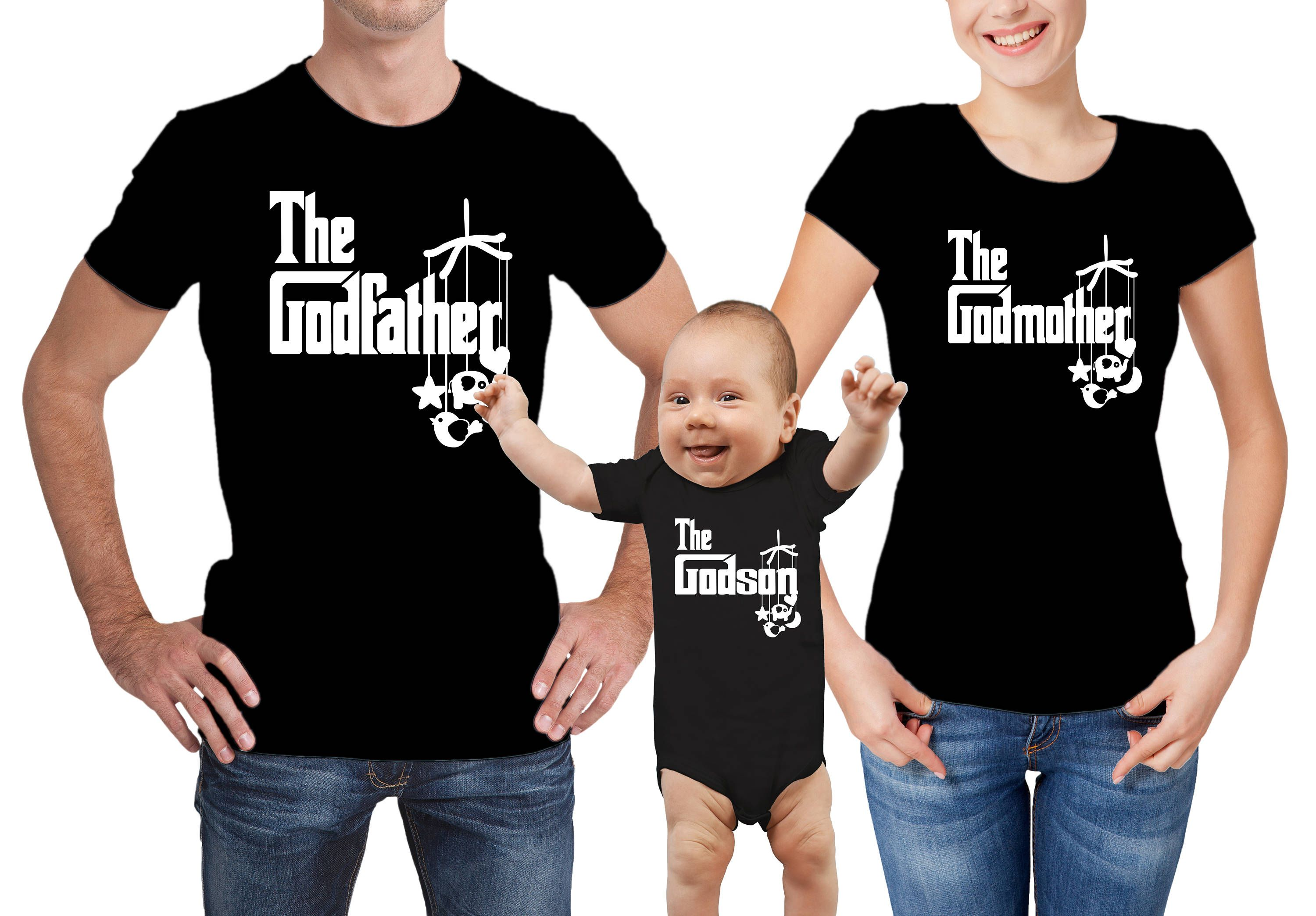 Godfather Godmother Godson Tees Wx46OZ8r