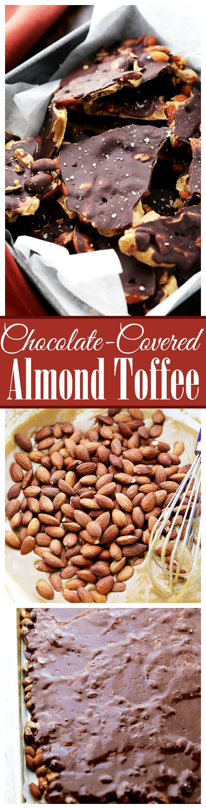 Photo of Chocolate Covered Almond Toffee – Made with light brown sugar, dark chocolate an…