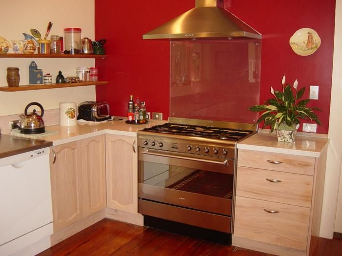 Red Kitchen Walls red walls in kitchen. kitchen. image of warm white cabinets red