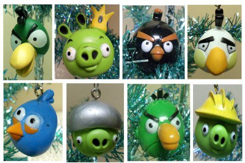 Angry Birds ornaments - Angry Birds 16 Piece Holiday Christmas Tree Ornament Set Pinterest